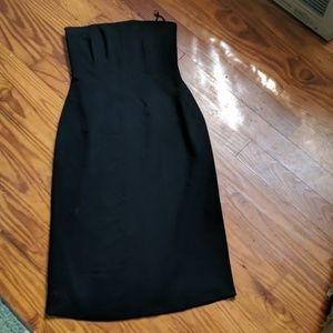 Banana republic black strapless dress size 8
